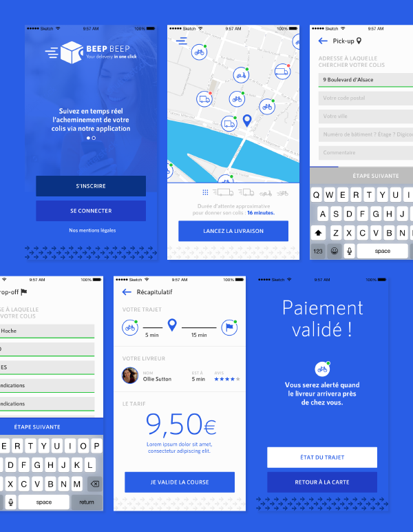 delivery app ui kit
