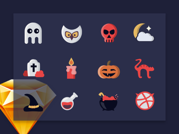 Halloween Colored Icons