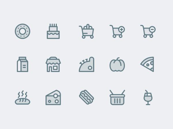Supermarket Icons Free
