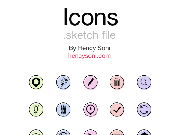 colored rounded icons