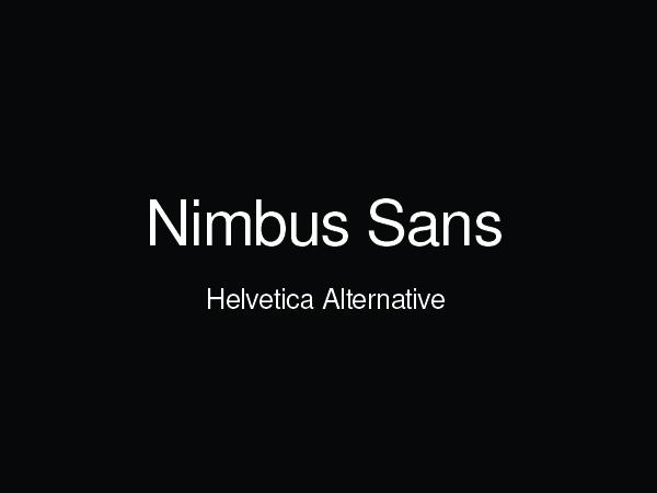 nimbus sans free font