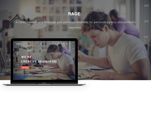 RAGE Free Website Template