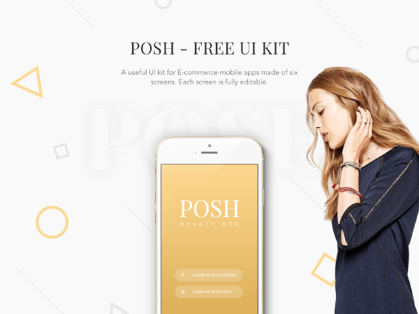 Posh free Ui Kit