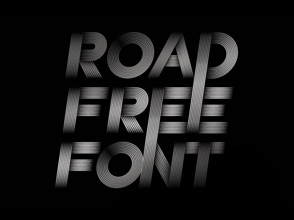 road free font