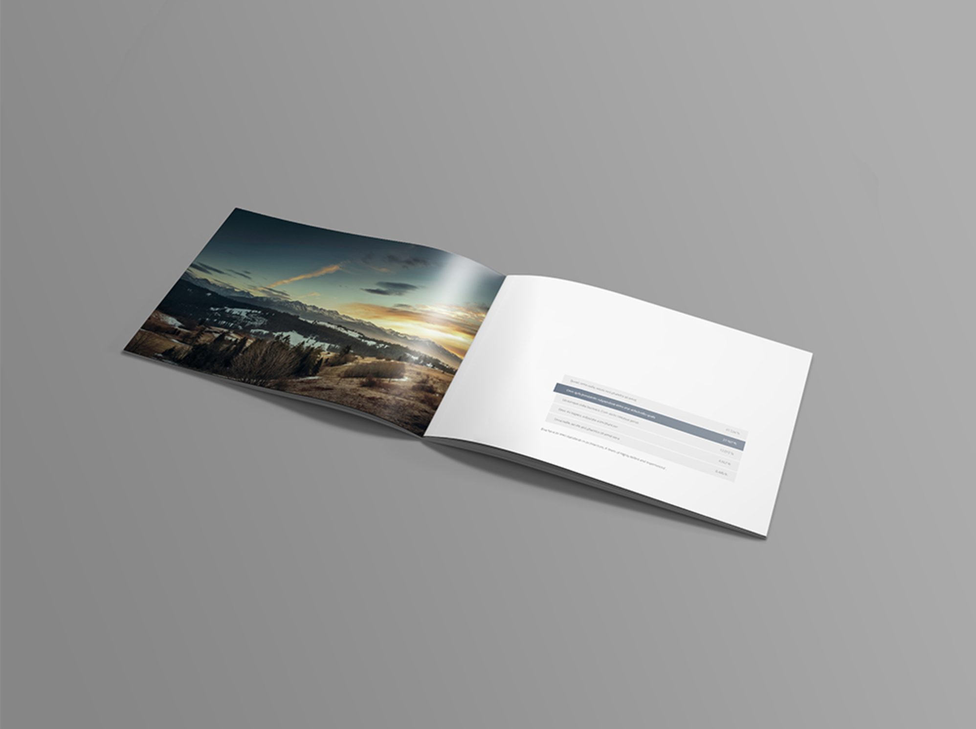 Best Free Photoshop Mockups - Horizontal brochure template