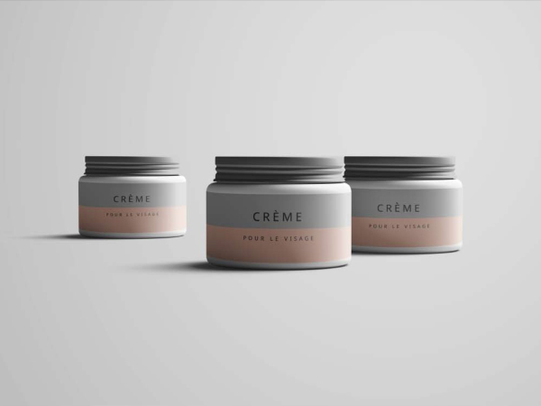 Cream Jar Psd Mockup (Free Download)