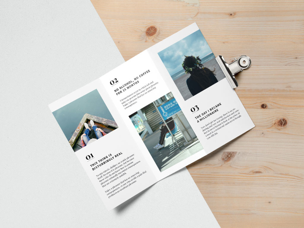 free trifold brochure mockup download