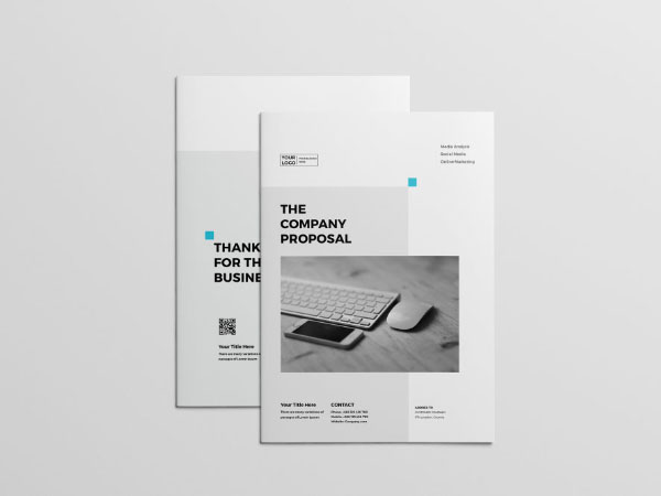 brochures professional proposal template free download