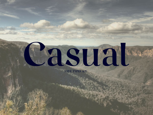 Casual Free Typeface