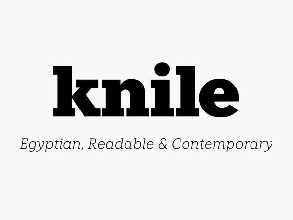 Knile Slab Free Font
