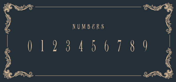 Price of Java numbers font