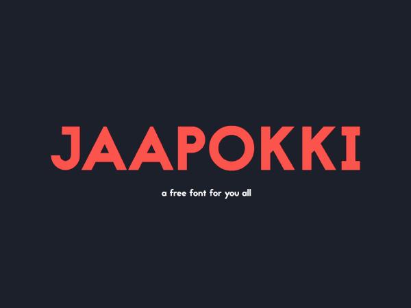 Jaapokki Sans Serif Font