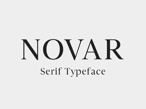 Novar Serif Typeface - Free