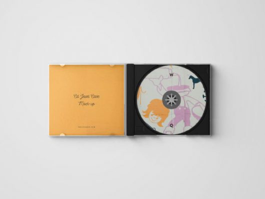 CD Jewel Case Mockup – Download PSD
