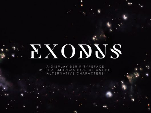Exodus Serif Display Font