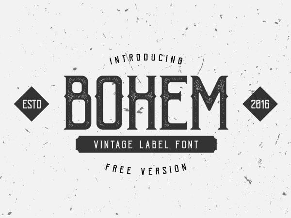 Bohem vintage label font