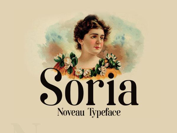 Soria Art Noveau Free Typeface