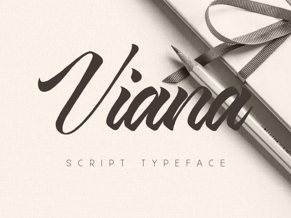 Viana-Script-Typeface
