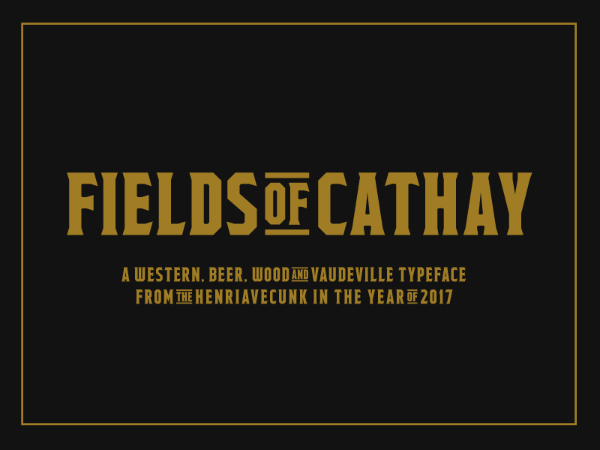 Fields of Cathay Serif Font