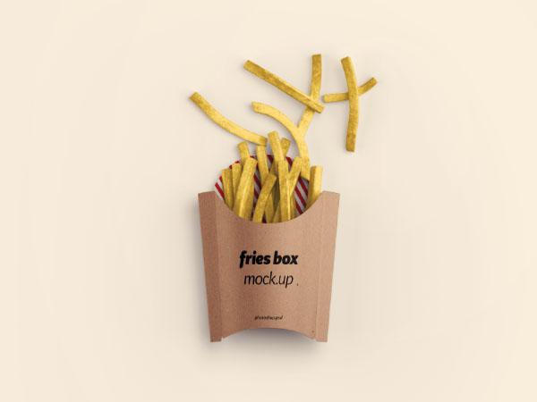 Fries Box Mockup - PSD