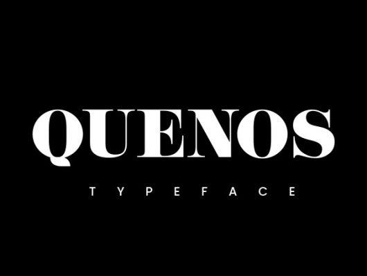 Quenos Elegant Serif Font