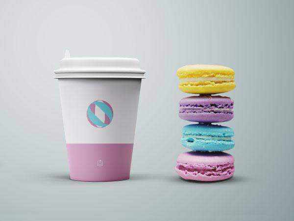 Cup & Cookies Mockup