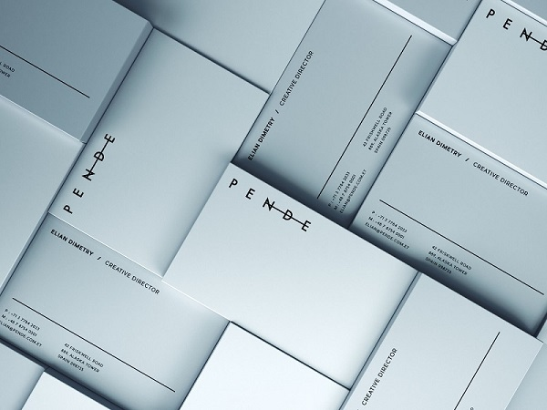 Vertical and horizontal business cards mockup colourmoves