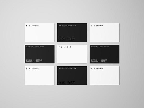 Overhead business cards mockup colourmoves