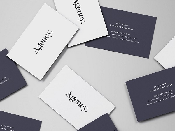 Free business card mockup front and back business card mockup spread colourmoves