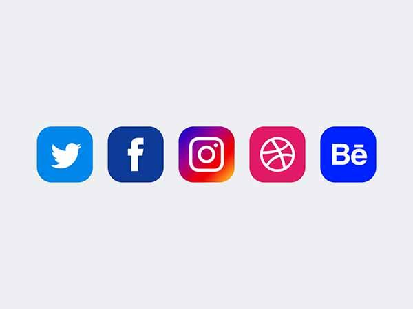 5 social media icons