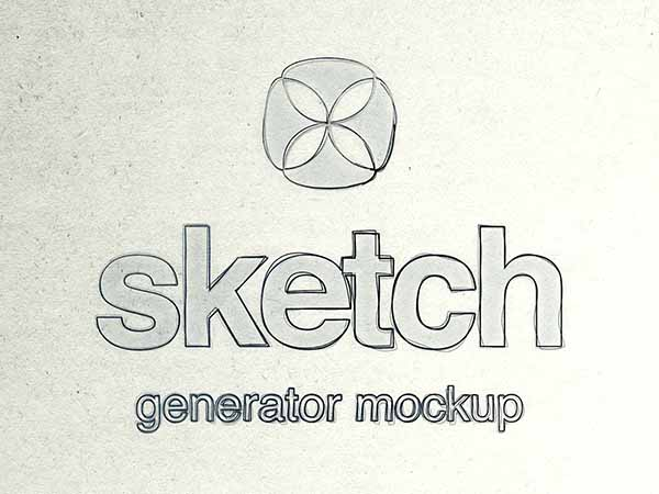PSD Sketch Effect Mockup
