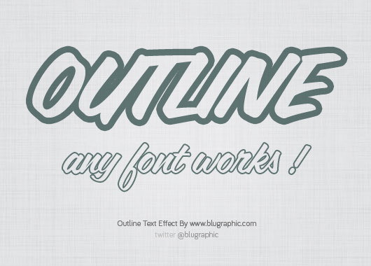 Outline Text Effect (Psd)