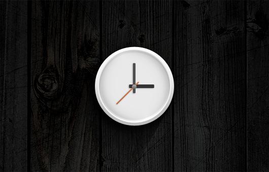 Analog Clock Icon (Psd)