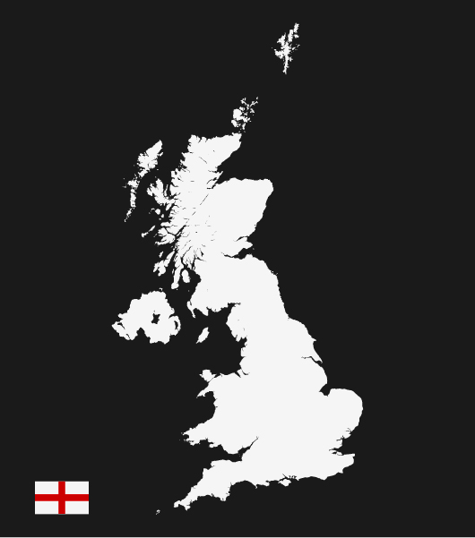 England Vector Map (Ai / Eps)