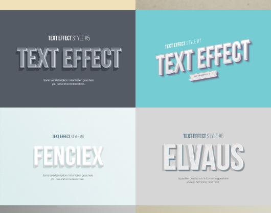 3D Text Effects V1.0