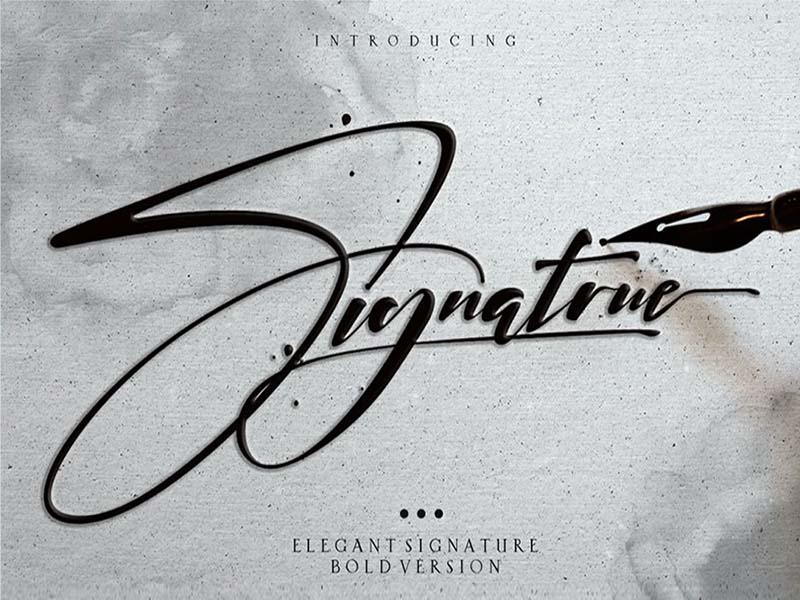 Signature Elegant Font